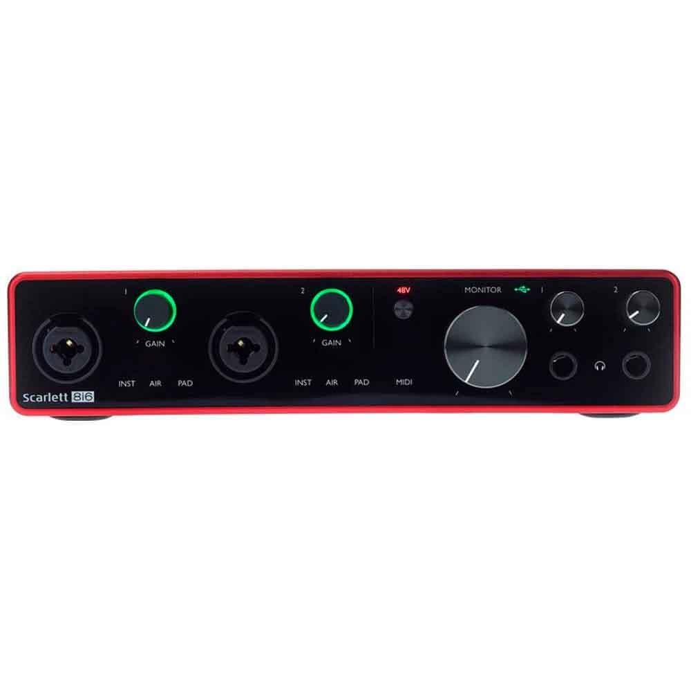 Interface de Áudio Focusrite Scarlett 8I6 USB 3rd Geração