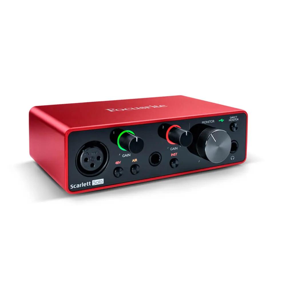 Interface de Áudio Focusrite Scarlett Solo USB 3rd Geração