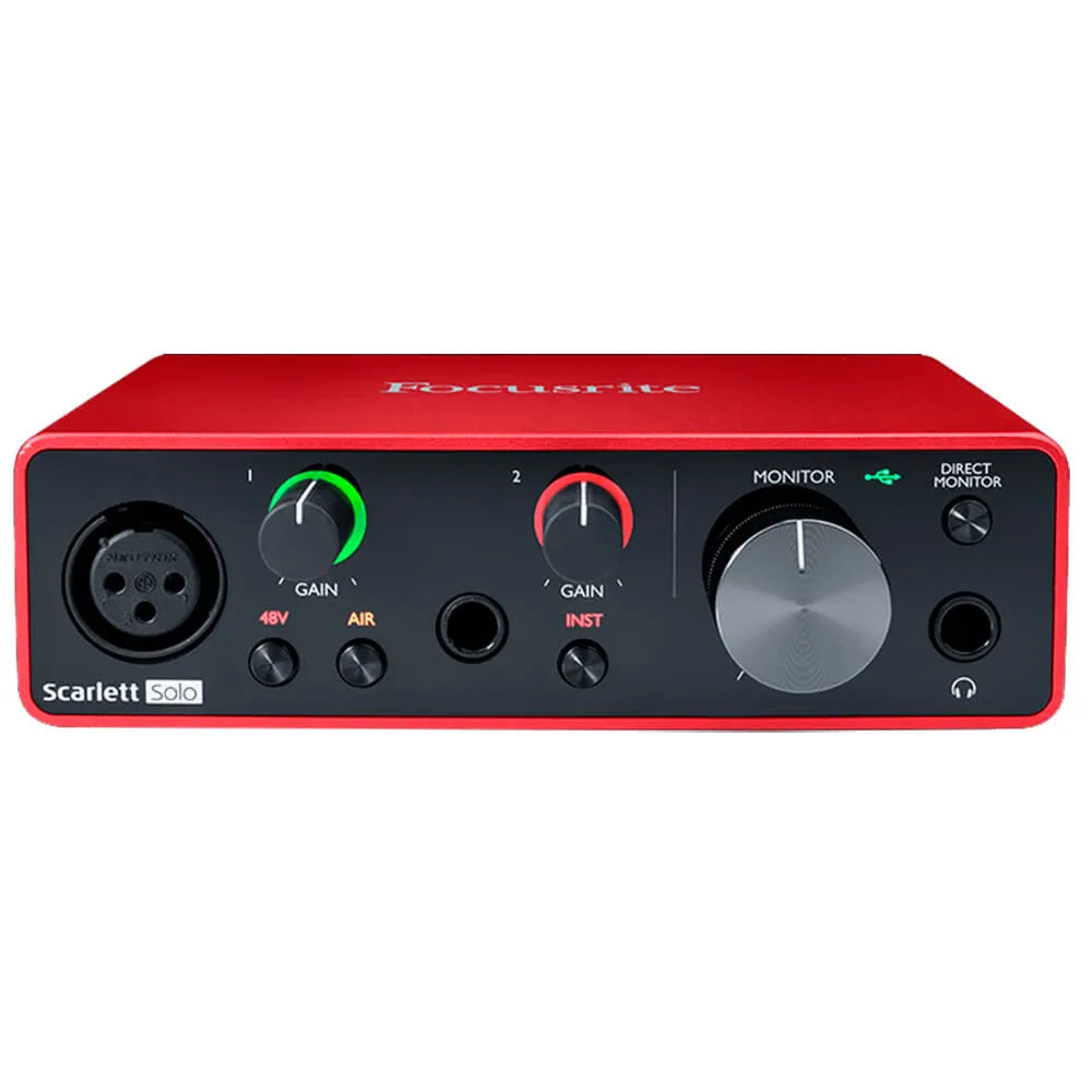 Interface de Áudio Focusrite Scarlett Solo USB 3nd Geração