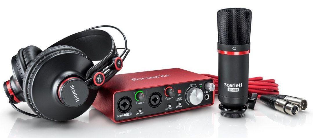 Interface de Áudio Focusrite Scarlett Studio 2i2 USB 2nd Geração