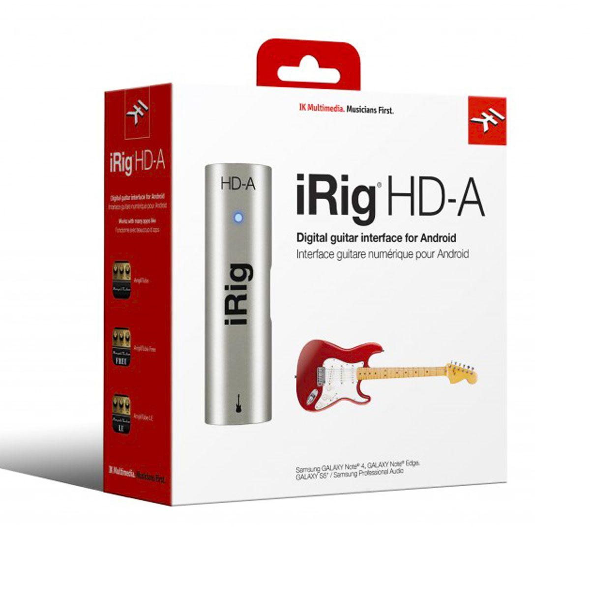 Interface de Áudio IK Multimedia iRig HD-A para Android
