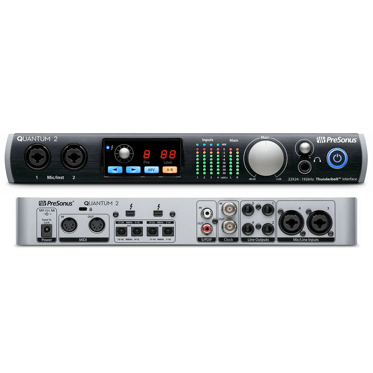 Interface de Áudio Presonus QUANTUM 2 Thunderbolt