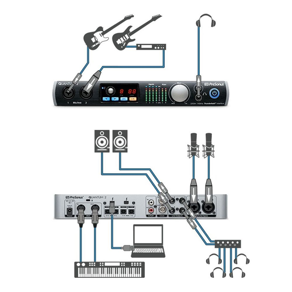 Interface de Áudio Presonus QUANTUM 2 Thunderbolt