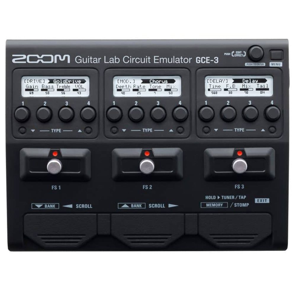 Interface de Áudio Zoom GCE-3 Guitar Lab Circuit Emulator