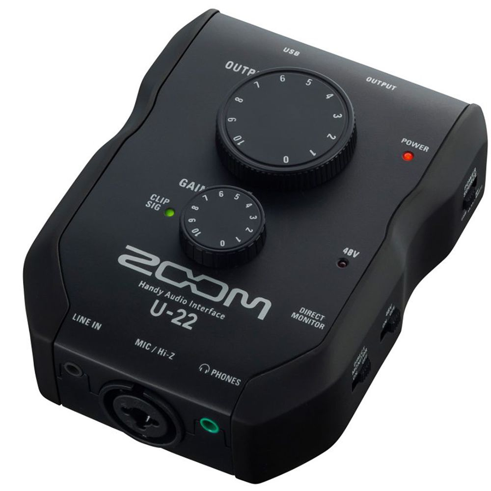 Interface de Áudio Zoom U-22 USB para PC/Mac / iPhone / iPad