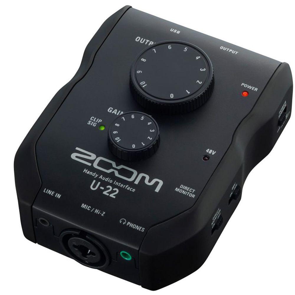 Interface de Áudio Zoom U-22 USB para PC/Mac / iPhone / iPad