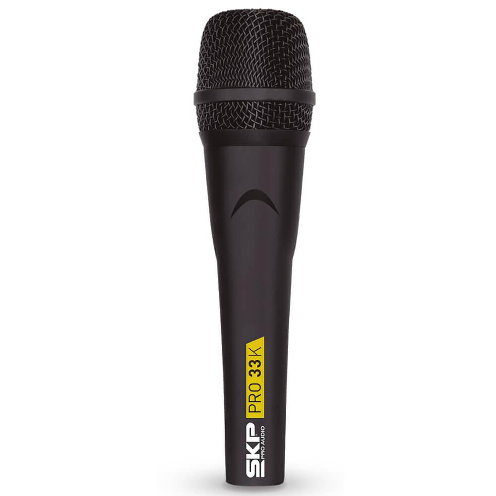 Kit com 3 Microfones Dinâmico SKP Pro Audio Pro-33K com Fio