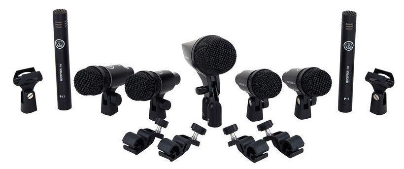 Kit de Microfone AKG Drum Set Session 1 Pack para Bateria