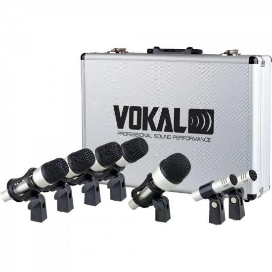 Kit de Microfone para Bateria Com Phantom Power VOKAL