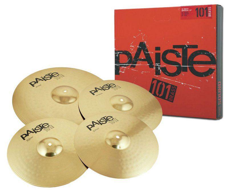 Kit de Pratos Paiste 101 Brass Universal Set para Bateria