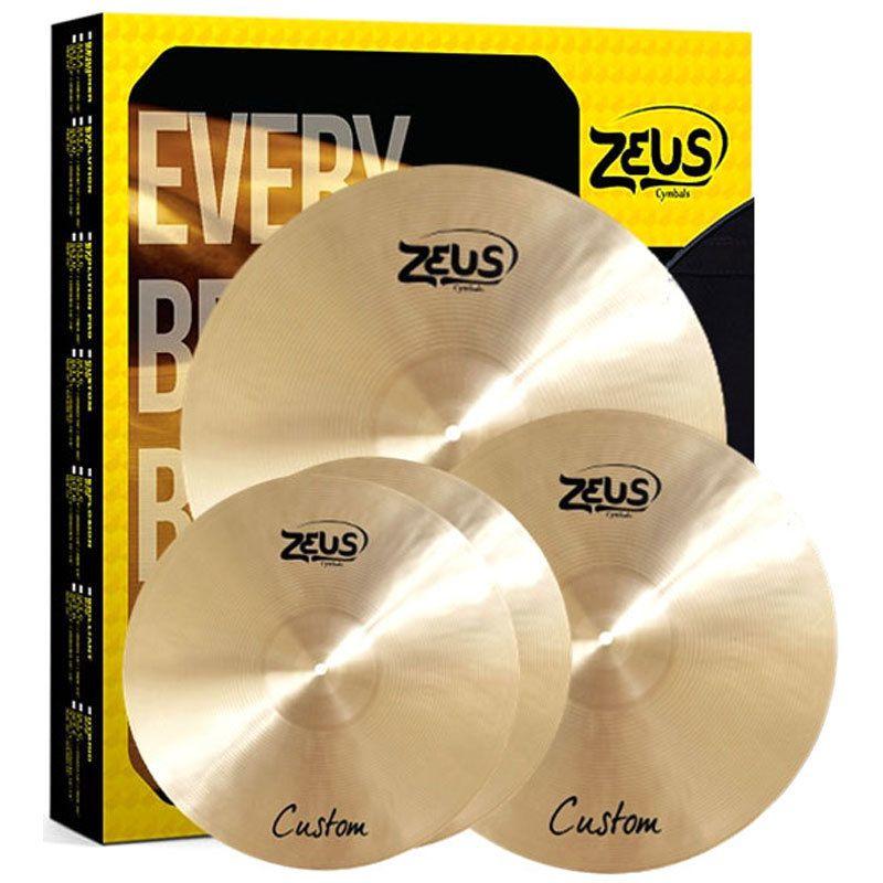 Kit de Pratos Zeus Cymbals SET C Custom Series 14