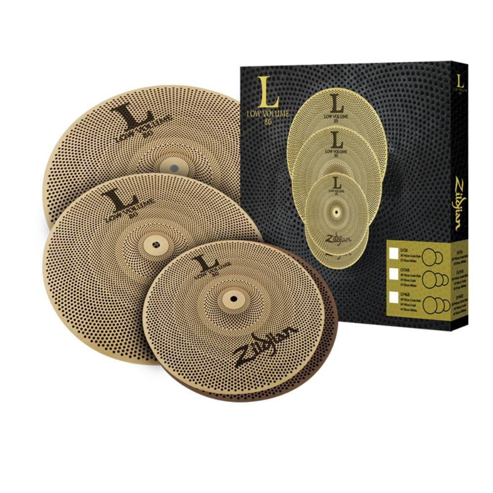 Kit de Pratos Zildjian Low Volume Lv468 14/16/18