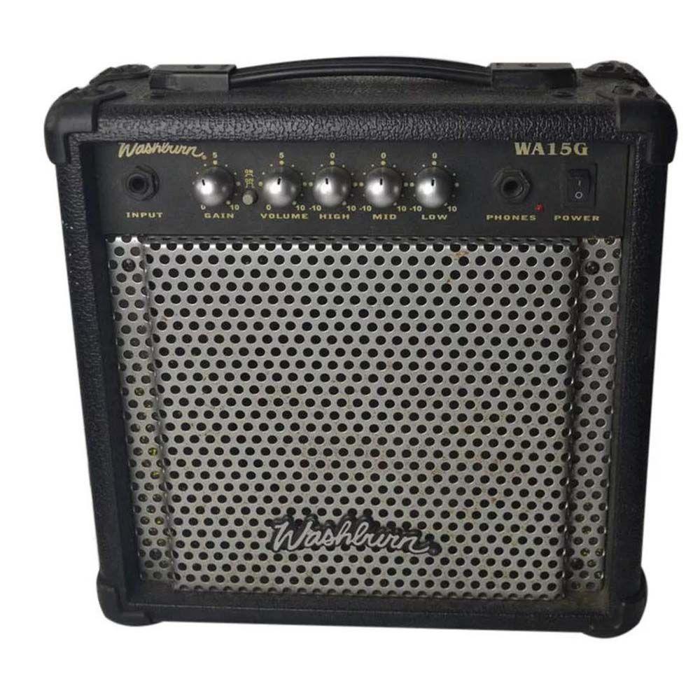 Kit Guitarra Washburn RX10B Pack com Amplificador WA15G 15W