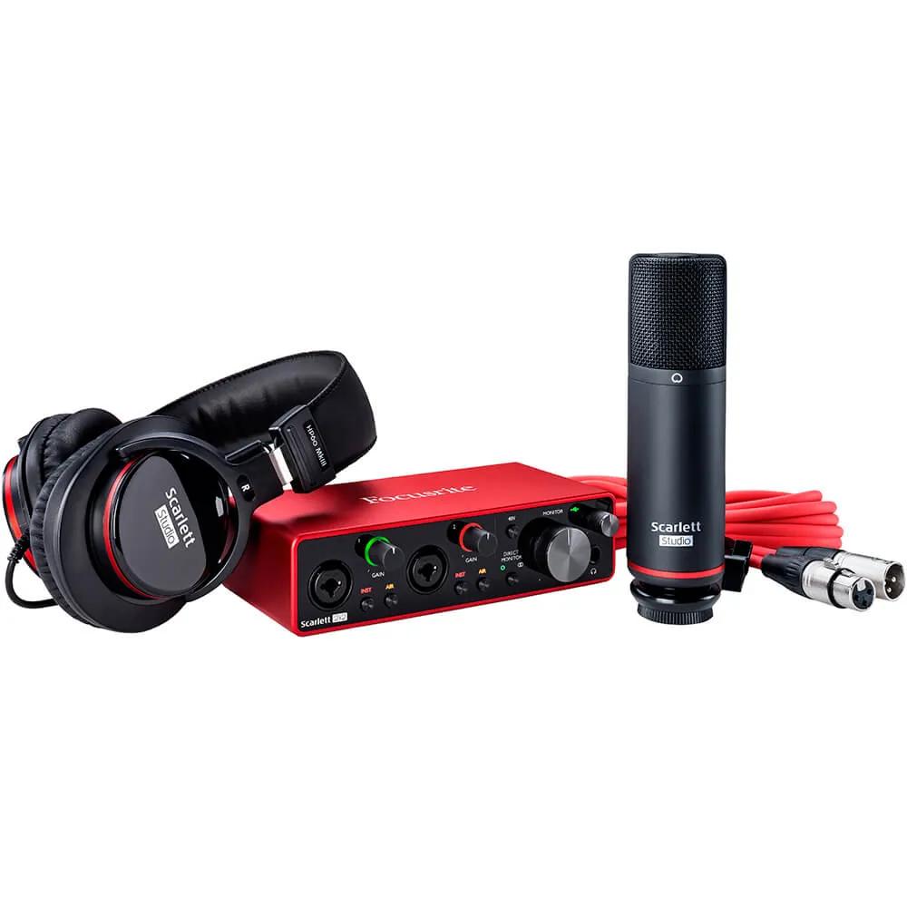 Kit Interface de Audio Focusrite Scarlett 2i2 Studio 3rd Geração