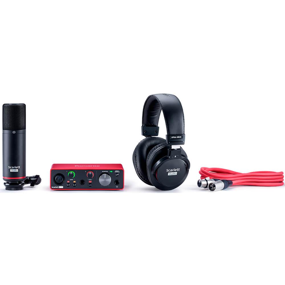 Kit Interface de Audio Focusrite Scarlett Solo Studio 3rd Geração