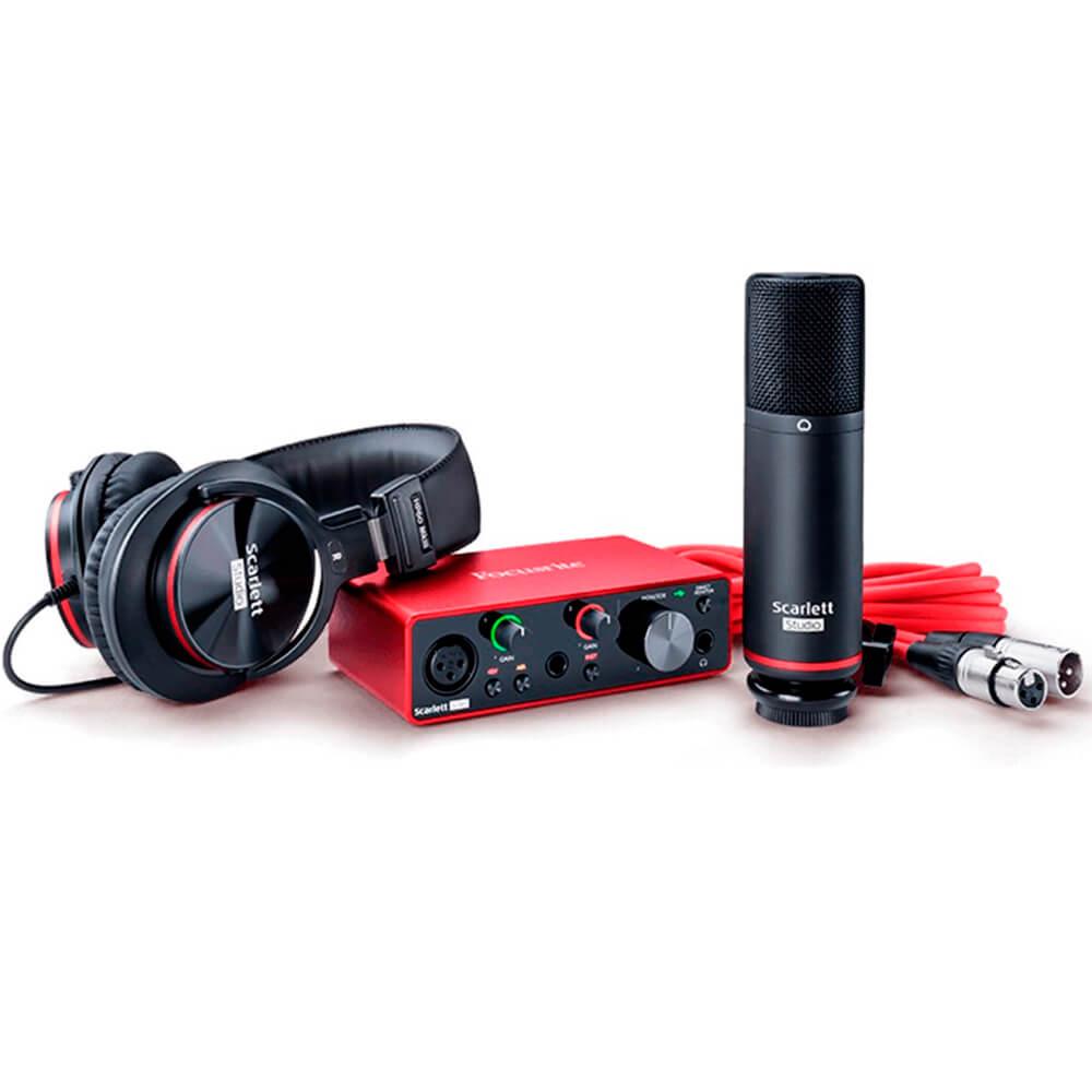 Kit Interface de Áudio Focusrite Scarlett Solo Studio USB