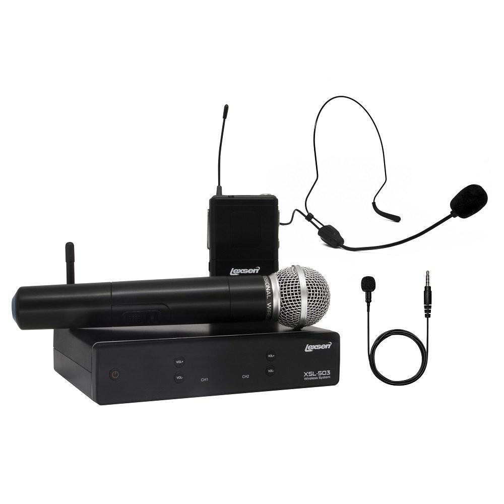 Kit Microfone UHF com 2 canais - XSL 503 - Lexsen