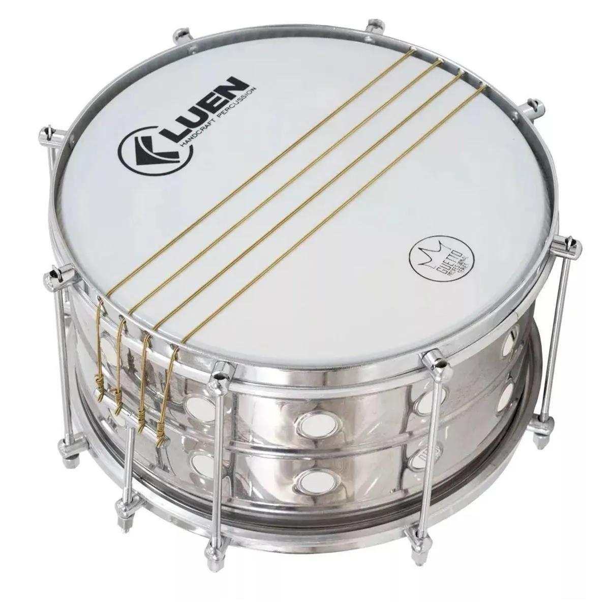 Malacaxeta Luen Percussion 20x12 Inox Vazado Guetto Cromada