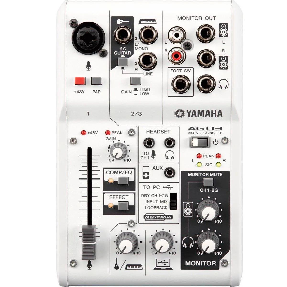 Mesa Analógica com interface Yamaha AG03 USB 3 Canais