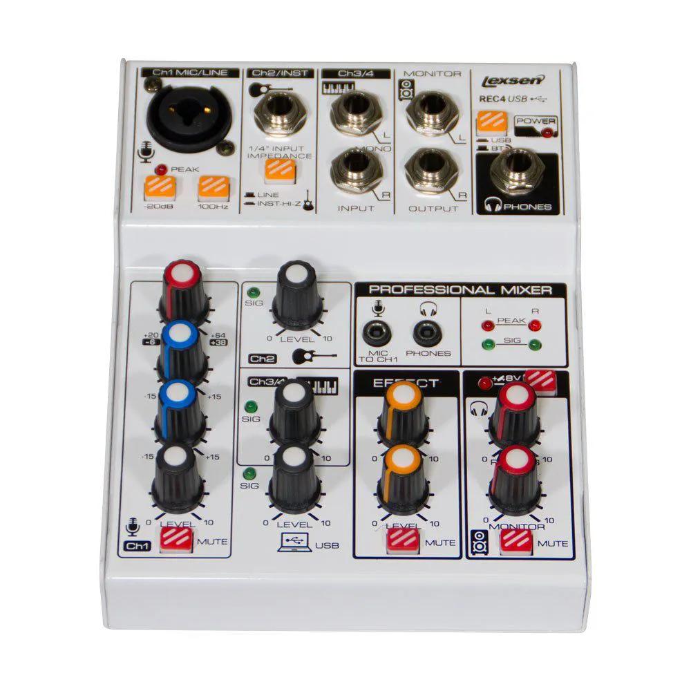 Mesa de Som 4 Canais, Efeitos/Interface - REC 4 - Lexsen