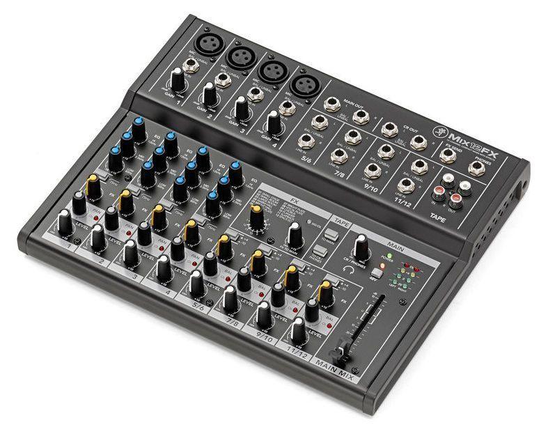Mesa de som Analógica Mackie Mix12FX Compact Mixer com Efeitos 12 Canais