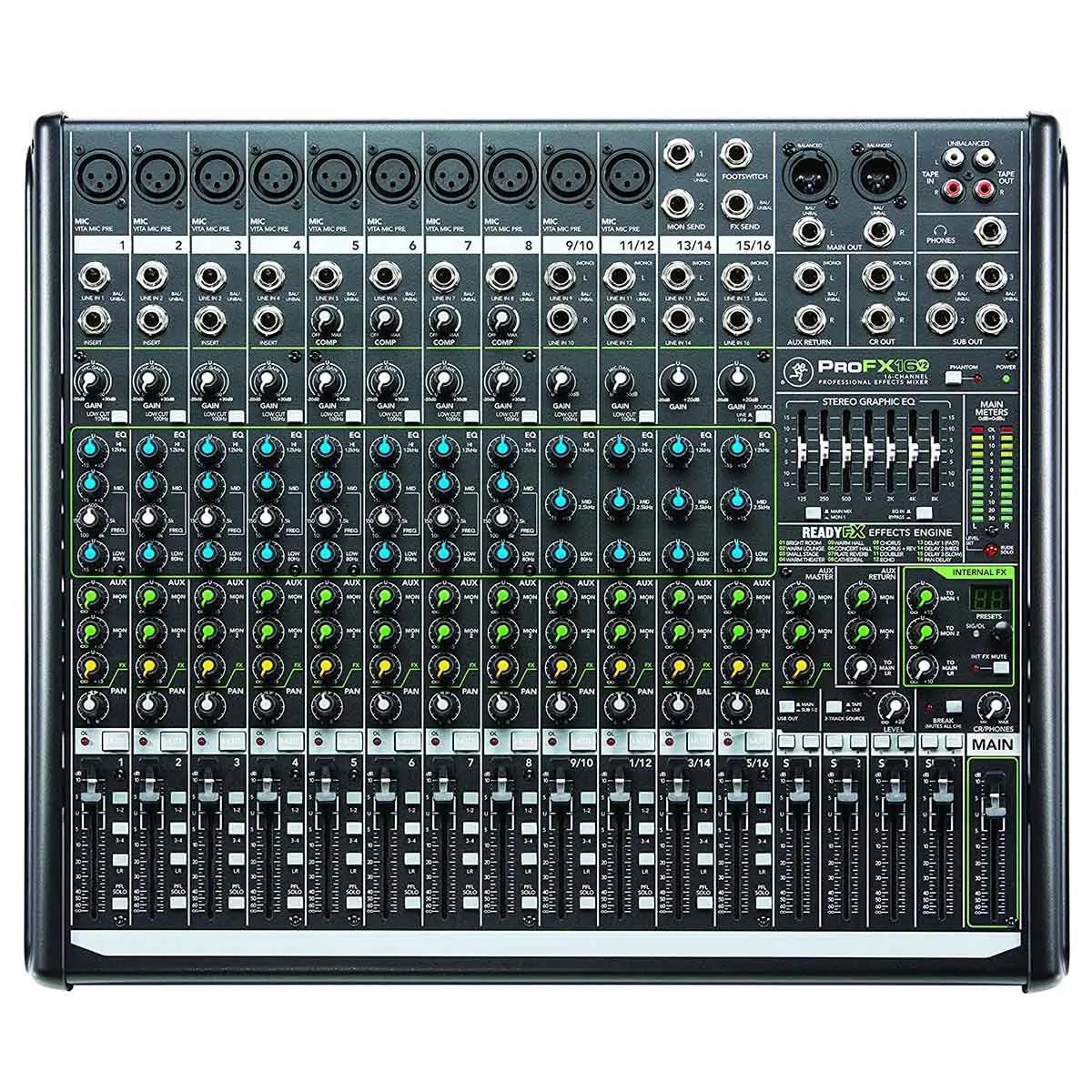 Mesa de Som Analógica Mackie Pro FX16 V2 USB 16 Canais