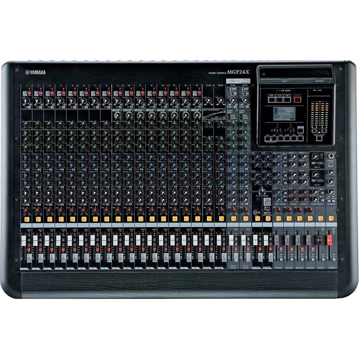 Mesa de Som Analógica Yamaha MGP24X 24 Canais