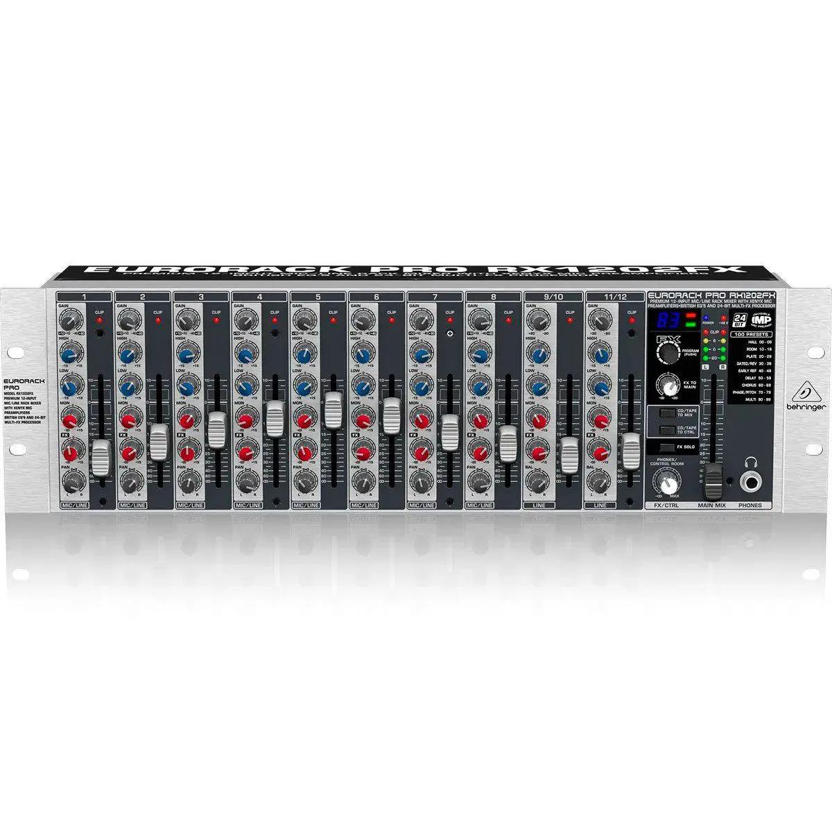 Mesa de Som Behringer Eurorack Pro RX1202FX 12 Canais