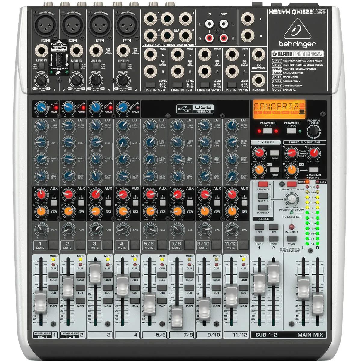 Mesa de Som Behringer Xenyx QX1622 USB 16 Canais