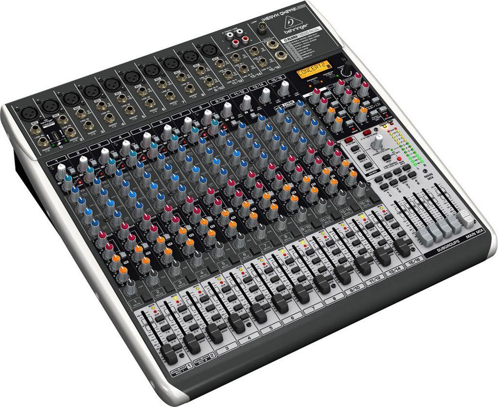 Mesa de Som Behringer Xenyx QX2442 USB 16 Canais