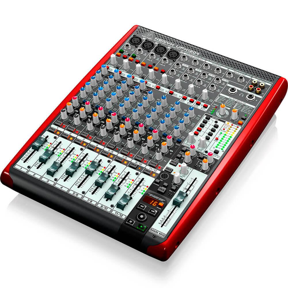 Mesa de Som Behringer Xenyx UFX1204 USB 12 Canais