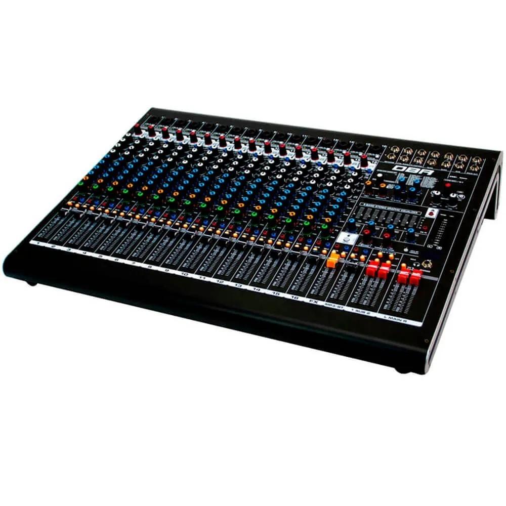Mesa de som de 16 canais com efeitos e interface de gravacao - DM16 USB - DBR