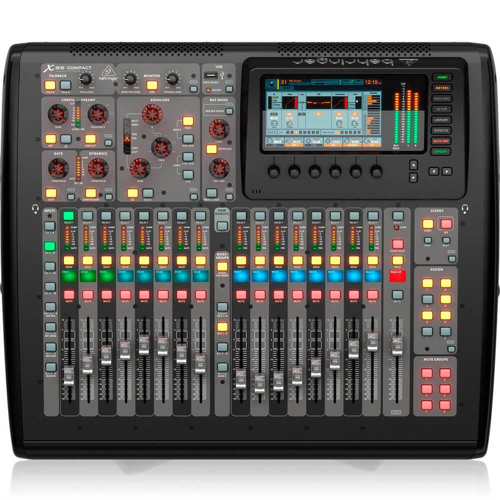 Mesa de Som Digital Behringer X32 Compact 32 Canais C/ Efeitos Bivolt