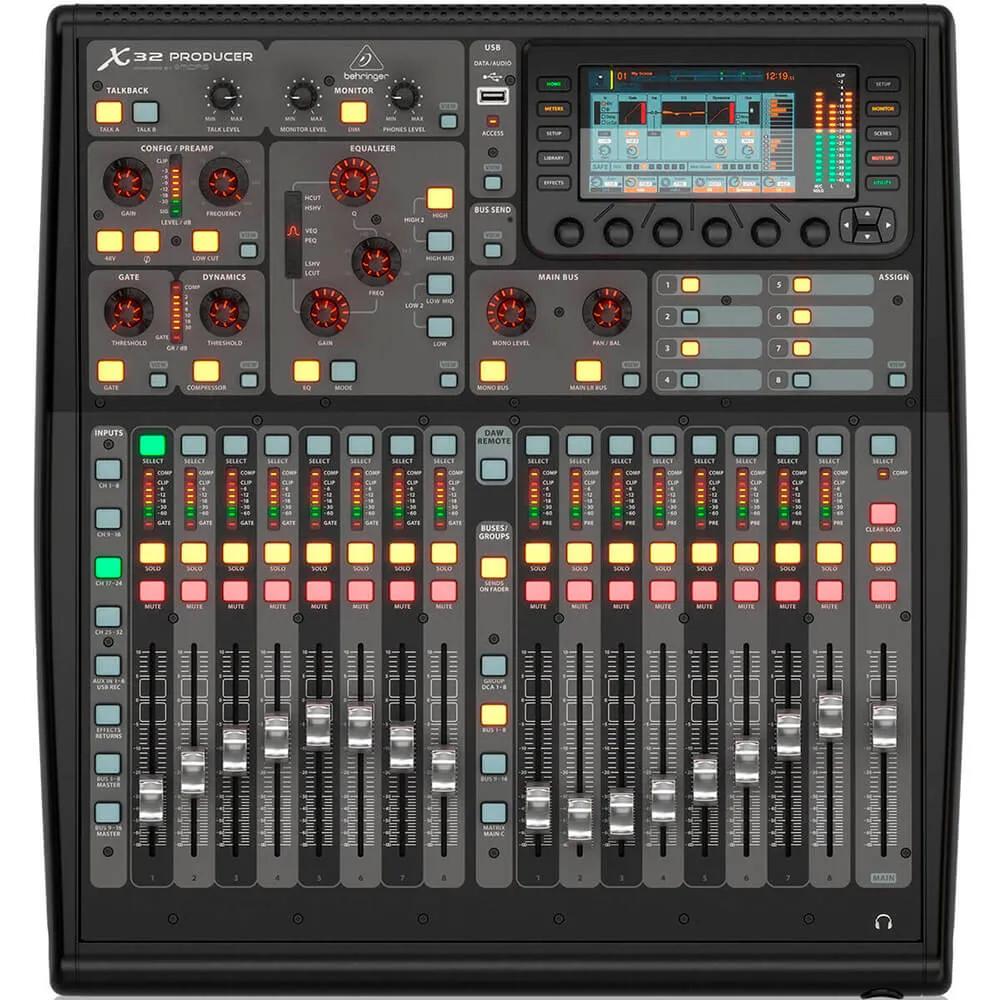 Mesa de Som Digital Behringer X32 Producer 32 Canais C/ Efeitos Bivolt