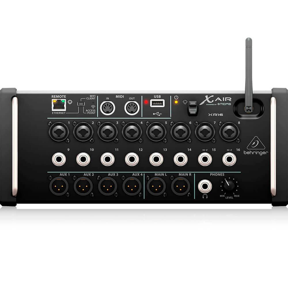 Mesa de Som Digital Behringer X-Air XR16 16 Canais C/ Efeitos Bivolt