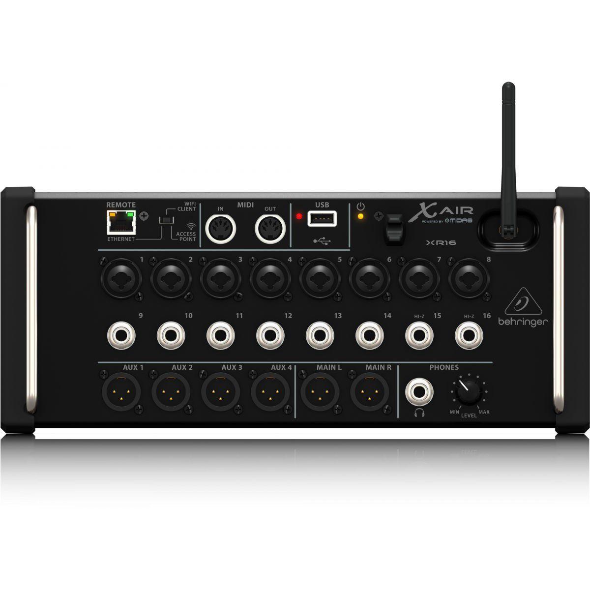 Mesa de Som Digital Behringer X Air XR16 USB 16 Canais