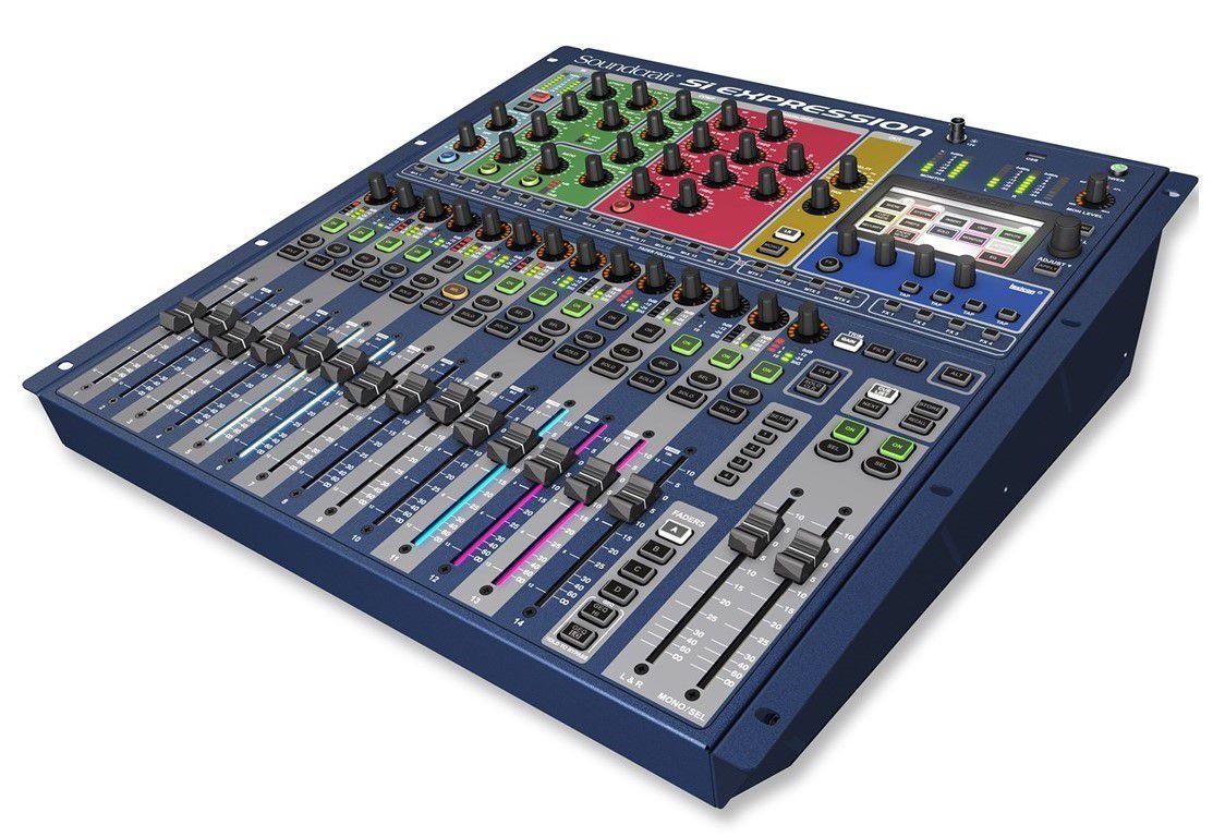 Mesa de Som Digital Soundcraft SI Expression 1 16 Canais