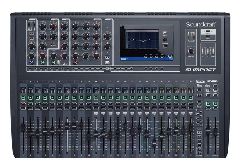 Mesa de Som Digital Soundcraft SI Impact 32 Canais