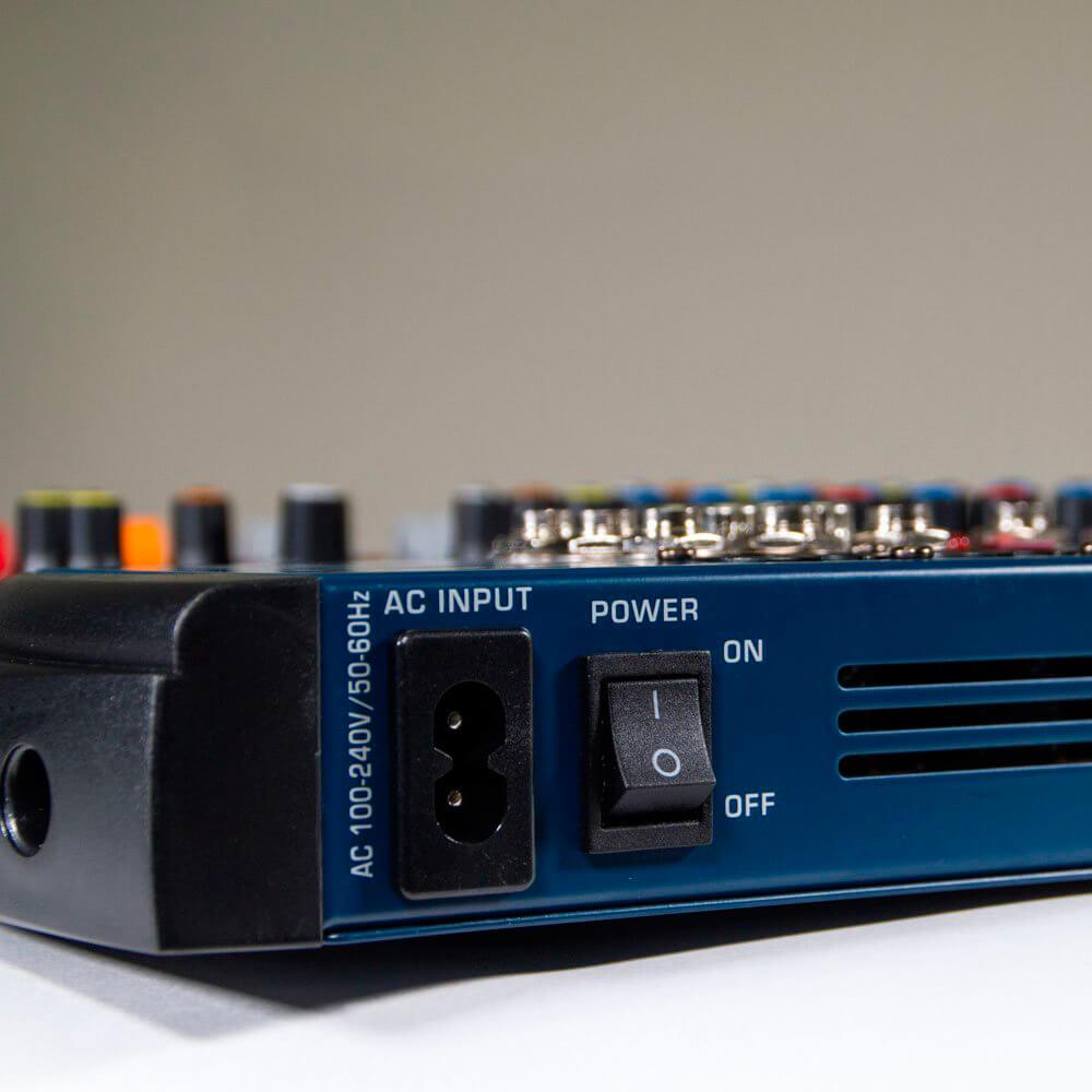 Mesa de Som Lexsen LMX12 USB 12 Canais com Efeitos