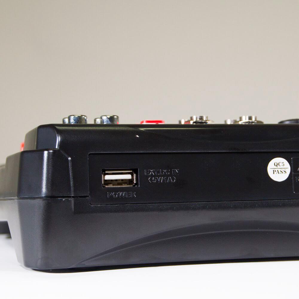 Mesa de Som Lexsen M6 USB 6 Canais com Efeitos