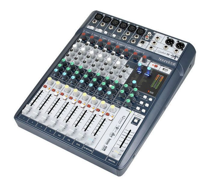 Mesa de Som Soundcraft Signature 10 USB 10 Canais
