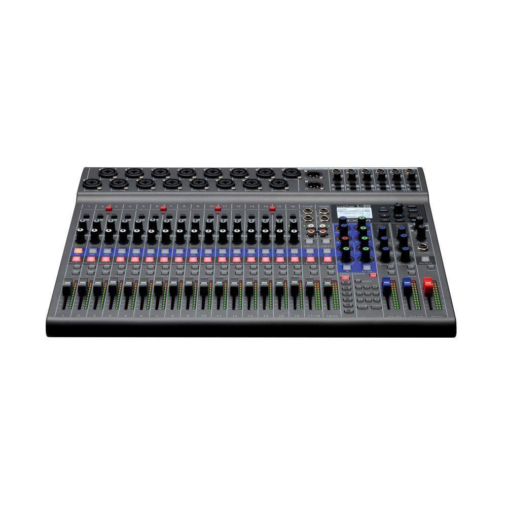 Mesa Digital Zoom L20 Mixer LiveTrak USB 20 Canais Bivolt