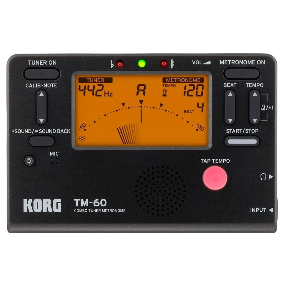 Metronomo Afinador Digital Korg TM-60C com Microfone CM-200