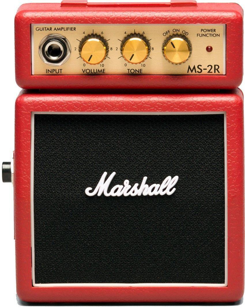 Micro combo para guitarra vermelho - MS-2R-E - MARSHALL
