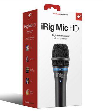 Microfone Cardióide Condensador IK Multimedia iRig Mic HD