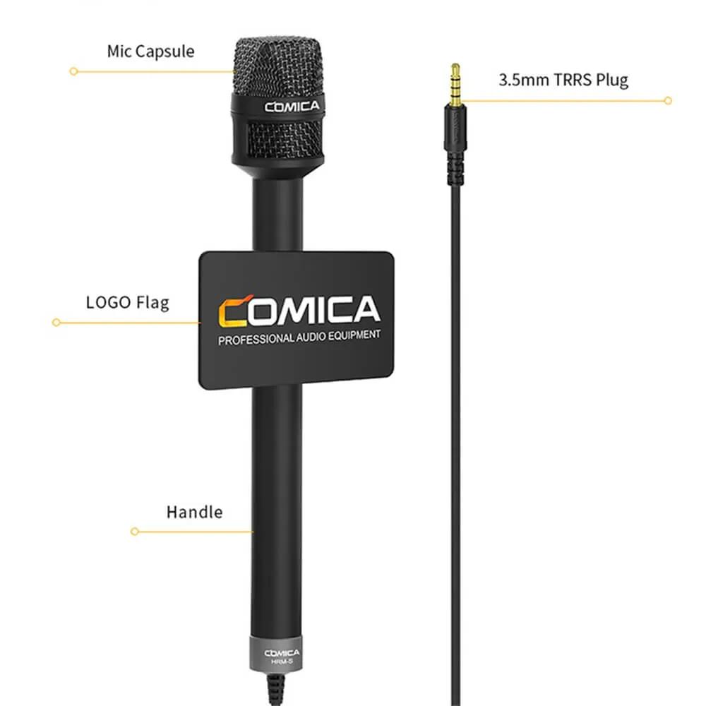 Microfone Condensador Comica HRM-S para Smartphone