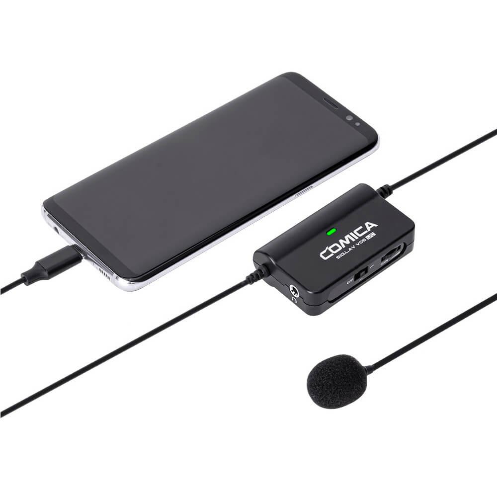 Microfone de Lapela Comica SIG.LAV V05 para Smartphone