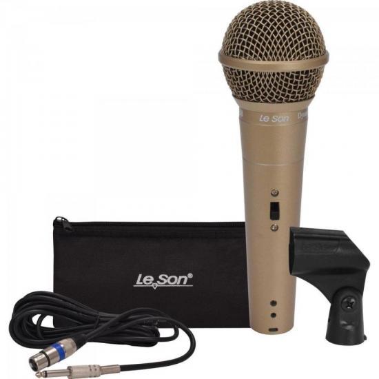 Microfone de Mão Dinâmico LS58 Champanhe LESON