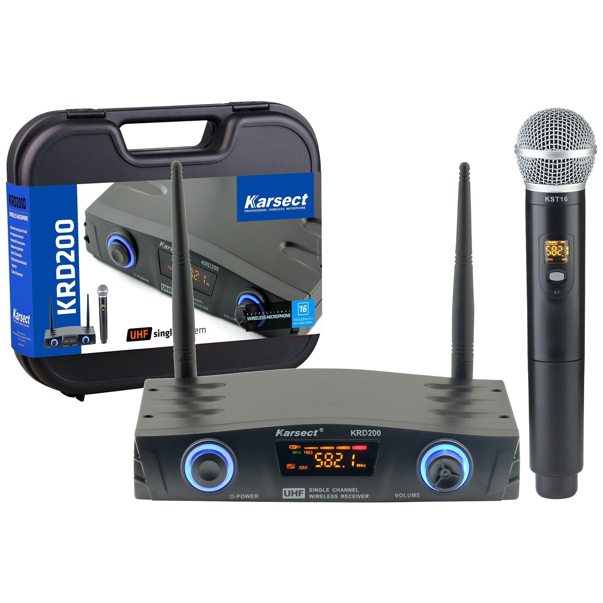 Microfone de Mão sem Fio KRD200SM KARSECT