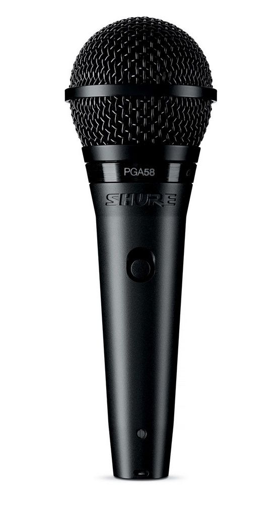 Microfone Dinâmico Cardioide Shure PGA58 LC